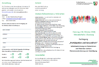 """Fachtagung """"Partizipation und Gesundheit"""""""