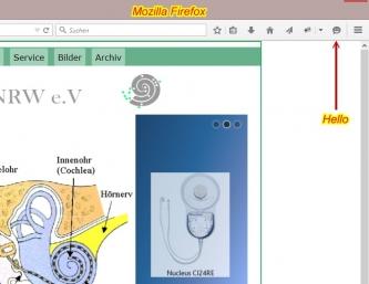 Firefox Hello Bildschirmfoto