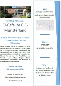 Flyer CIC Münsterland