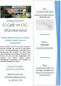 Flyer CIC Münsterland