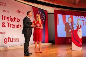"""Joachim Gast, Geschäftsführer von ReSound Deutschland, während seines Auftritts bei den """"Insights & Trends"""" zur IFA 2017"""