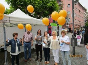 Luftballon-Aktion beim Deutschen CI-Tag (Foto:  DCIG).