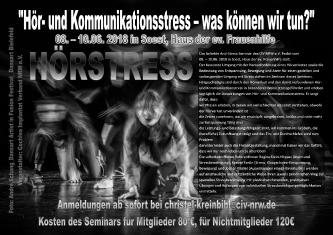 Das beliebte Anti-Stress-Seminar des CIV NRW e.V. findet vom 08. – 10.06. 2018 in Soest, Haus der ev. Frauenhilfe statt.