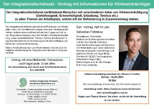Der Integrationsfachdienst - Vortrag mit Informationen für Hörbeeinträchtigte