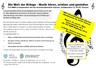 Musik Workshop Flyer